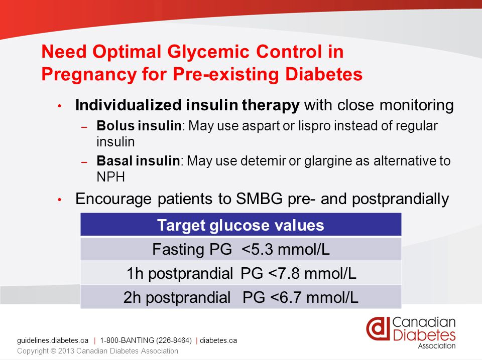Need Optimal Glycemic Control in Pregnancy for Pre-existing Diabetes