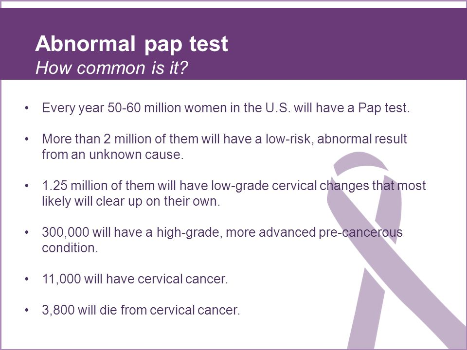 Abnormal pap test How common is it