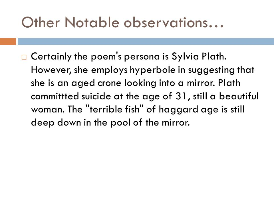 Other Notable observations…