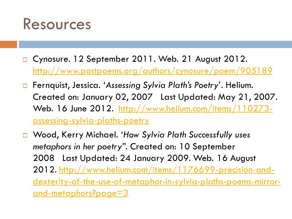 Resources Cynosure. 12 September 2011. Web. 21 August 2012. http://www.postpoems.org/authors/cynosure/poem/905189.
