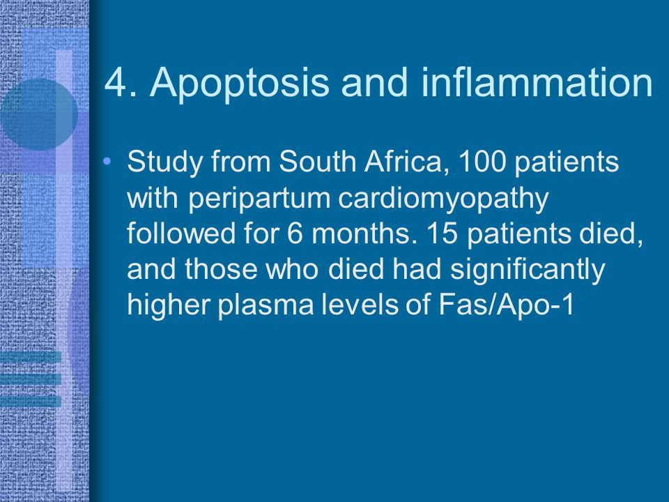 4. Apoptosis and inflammation