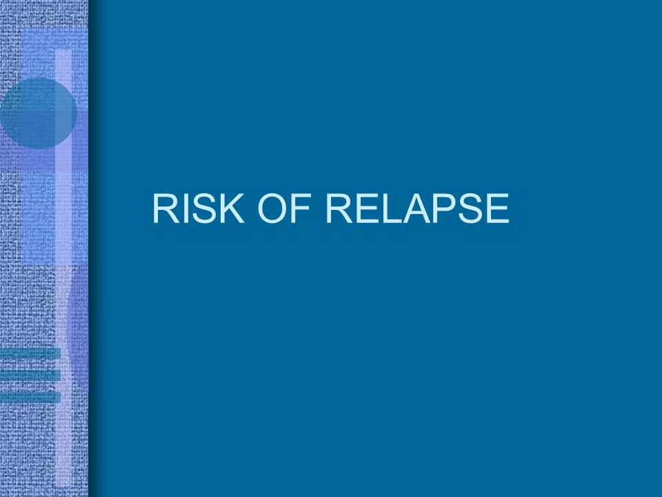 RISK OF RELAPSE