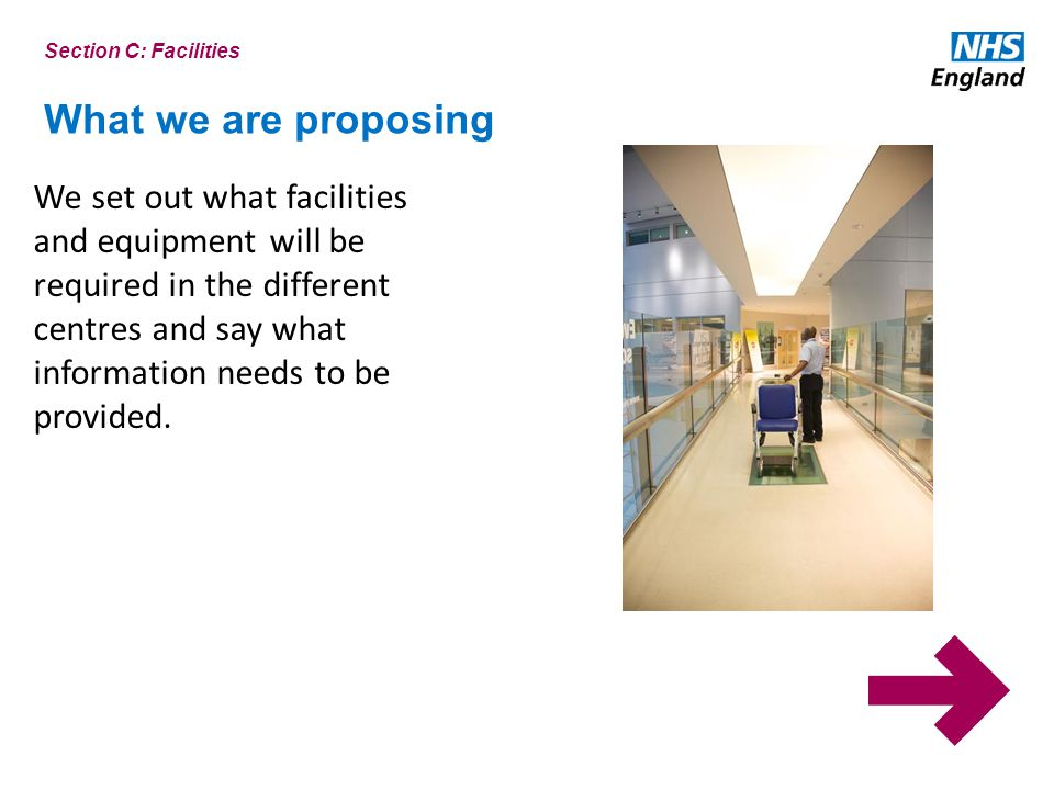 Section C: Facilities What we are proposing.