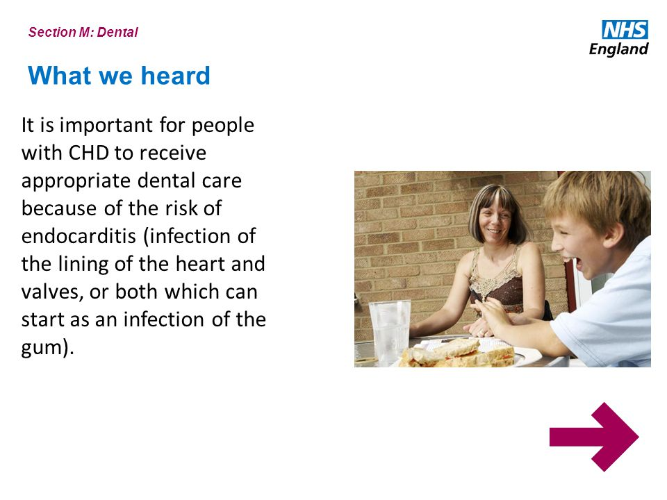 Section M: Dental What we heard.
