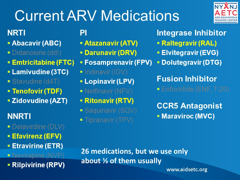 Current ARV Medications