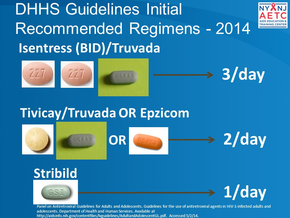 DHHS Guidelines Initial Recommended Regimens - 2014