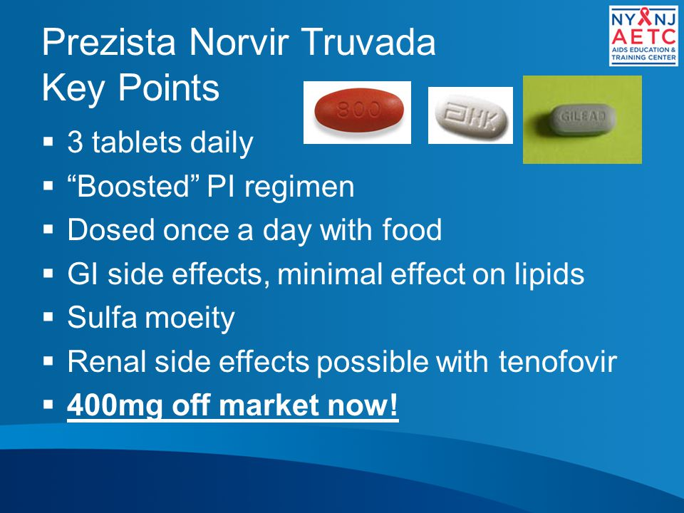 Prezista Norvir Truvada Key Points