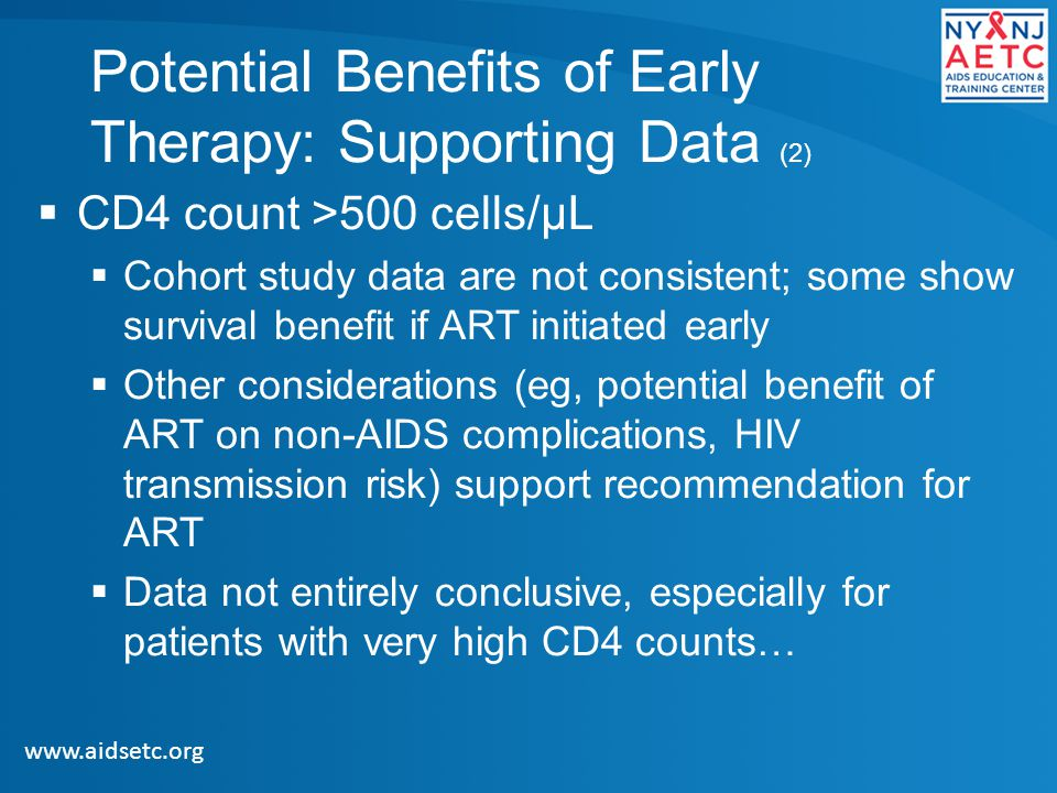 Potential Benefits of Early Therapy: Supporting Data (2)