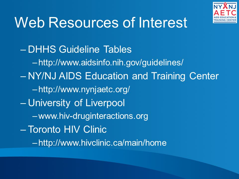Web Resources of Interest