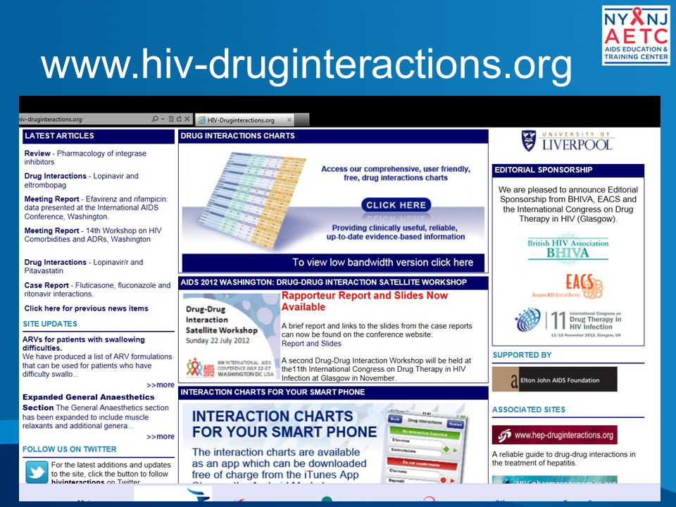 www.hiv-druginteractions.org