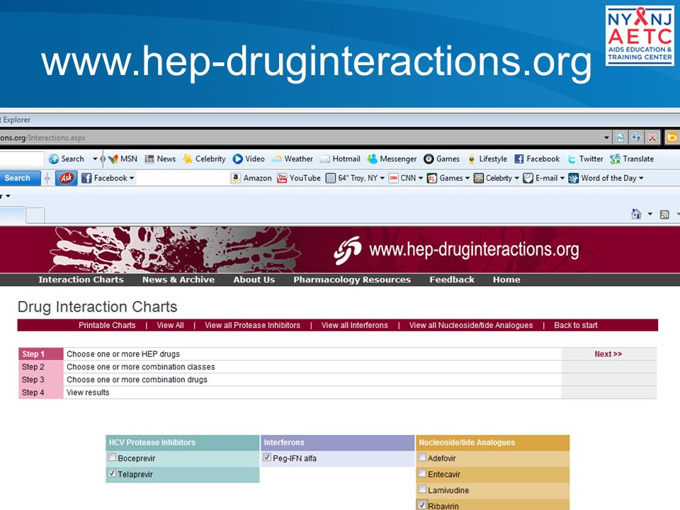 www.hep-druginteractions.org Good reference