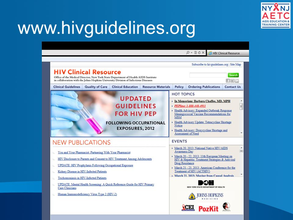 www.hivguidelines.org