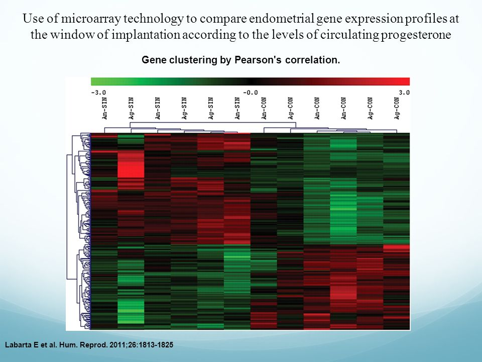 Gene clustering by Pearson s correlation.