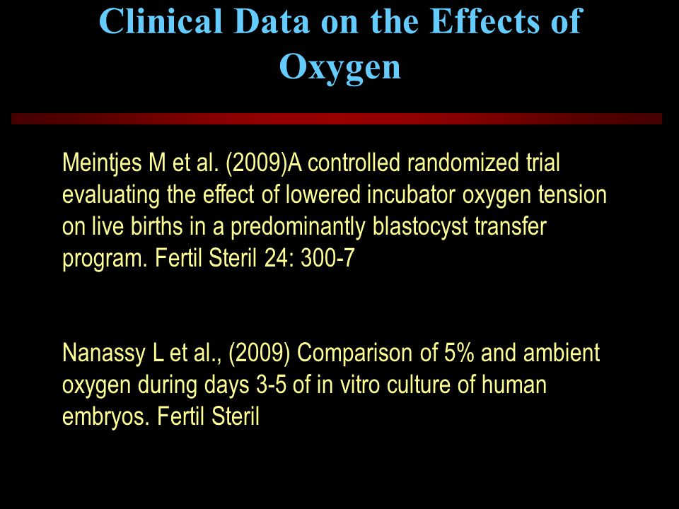 Clinical Data on the Effects of Oxygen