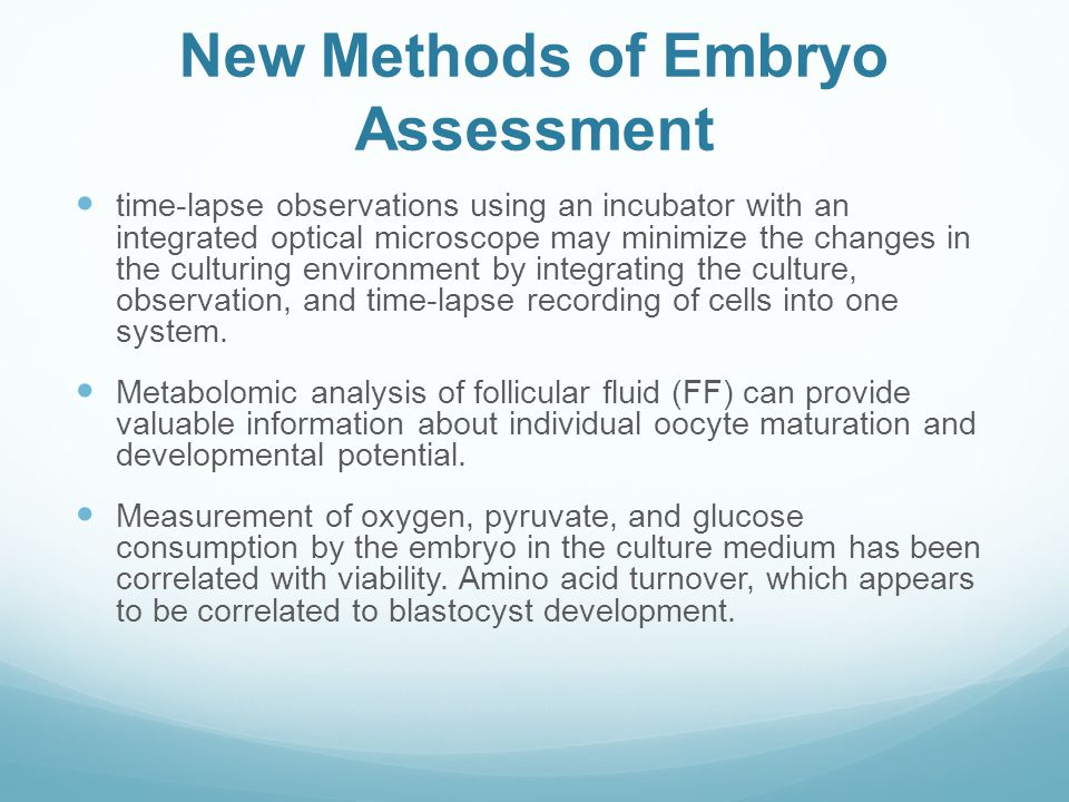 New Methods of Embryo Assessment