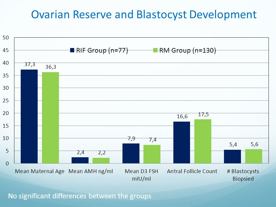 Ovarian Reserve and Blastocyst Development