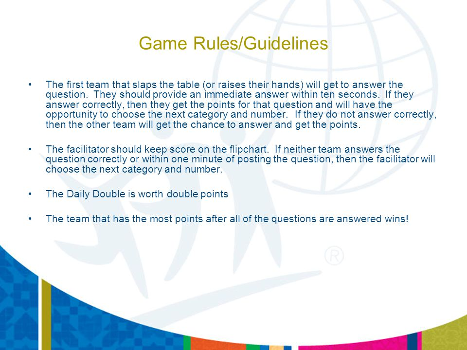 Game Rules/Guidelines