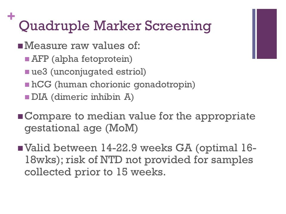 Quadruple Marker Screening