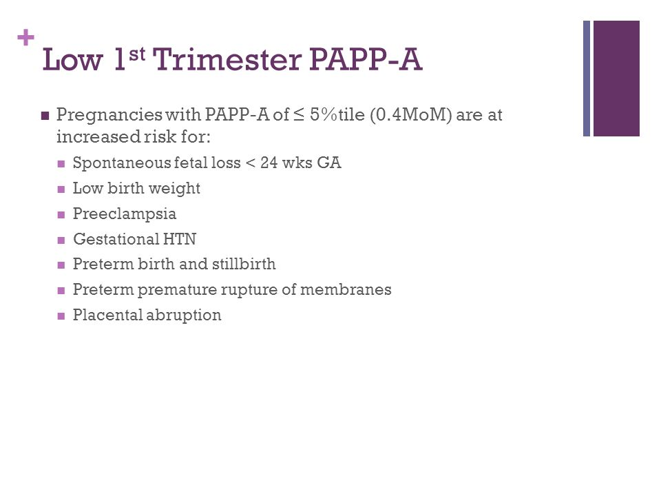 Low 1st Trimester PAPP-A
