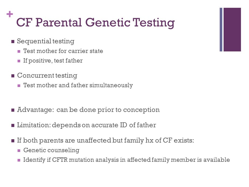 CF Parental Genetic Testing