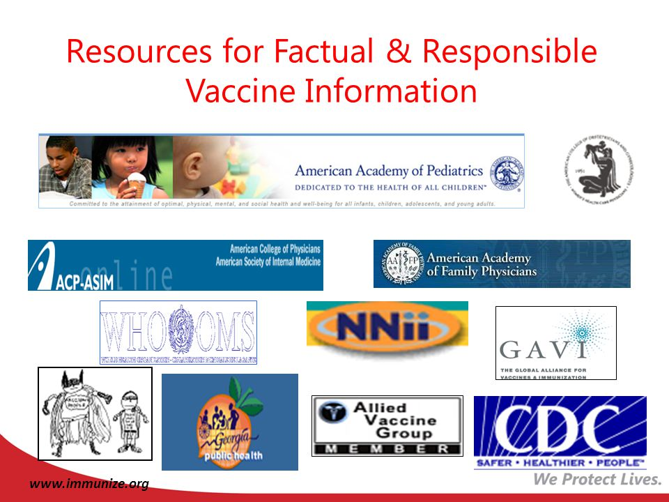 Resources for Factual & Responsible Vaccine Information