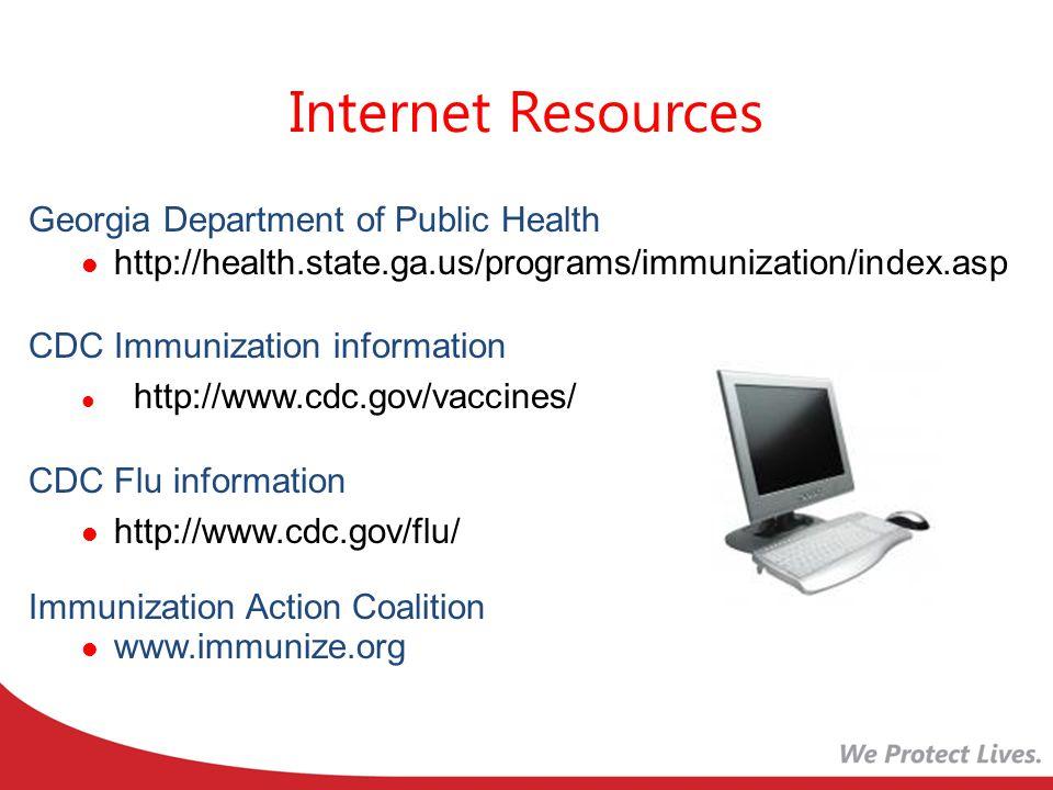 Internet Resources Georgia Department of Public Health