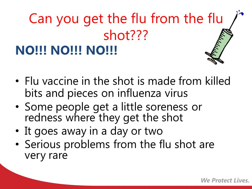 Can you get the flu from the flu shot