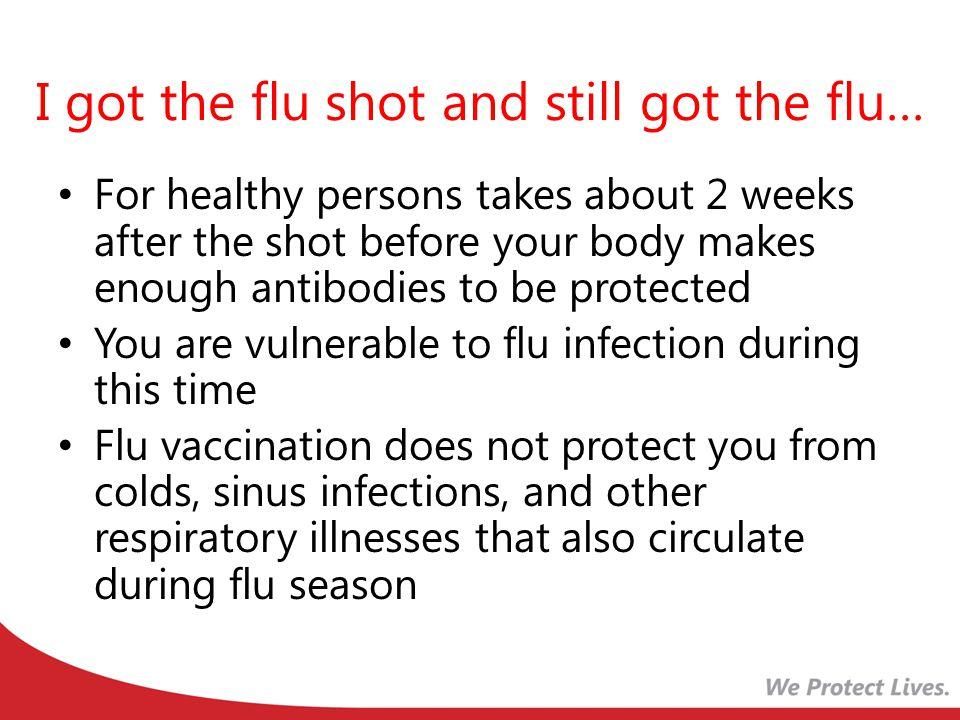 I got the flu shot and still got the flu…