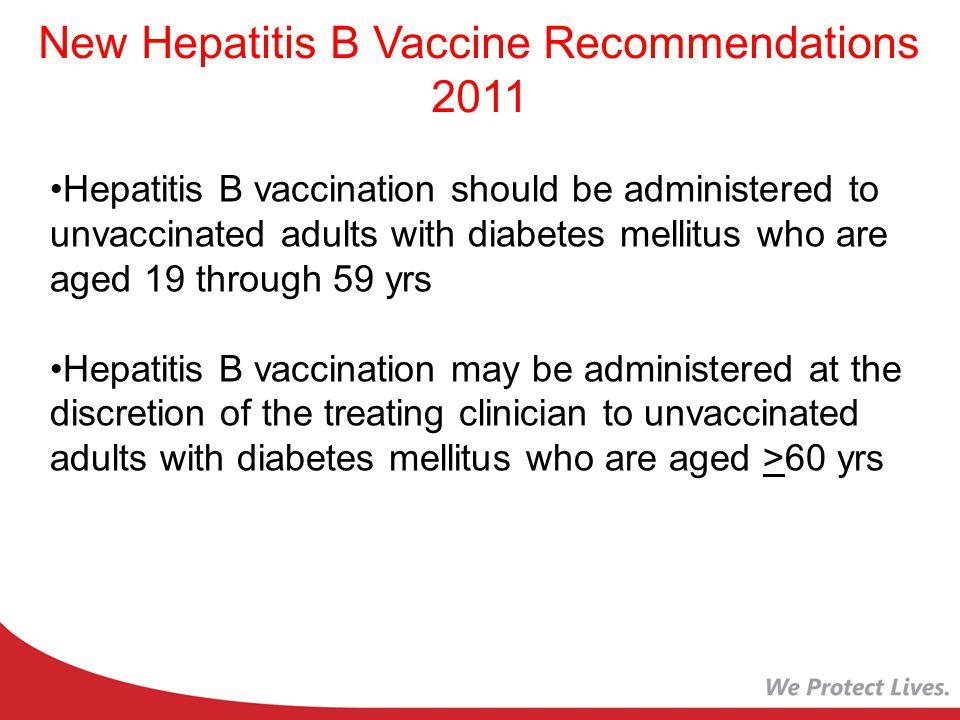 New Hepatitis B Vaccine Recommendations 2011