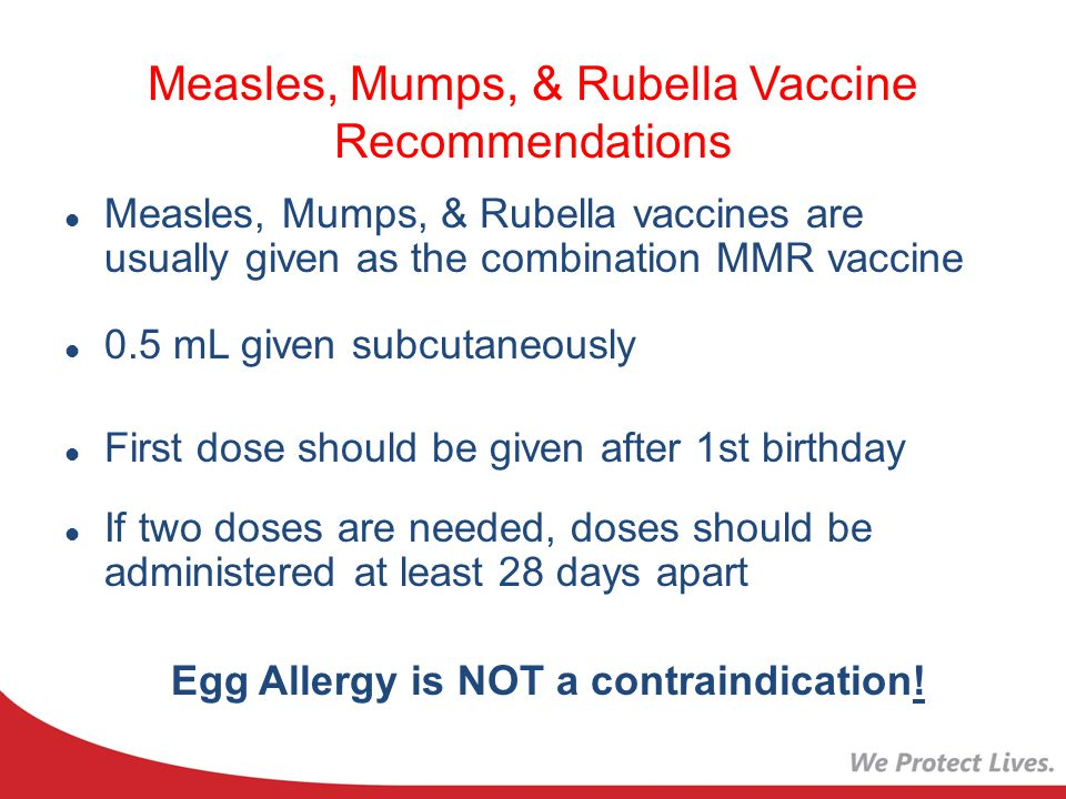 Measles, Mumps, & Rubella Vaccine Recommendations