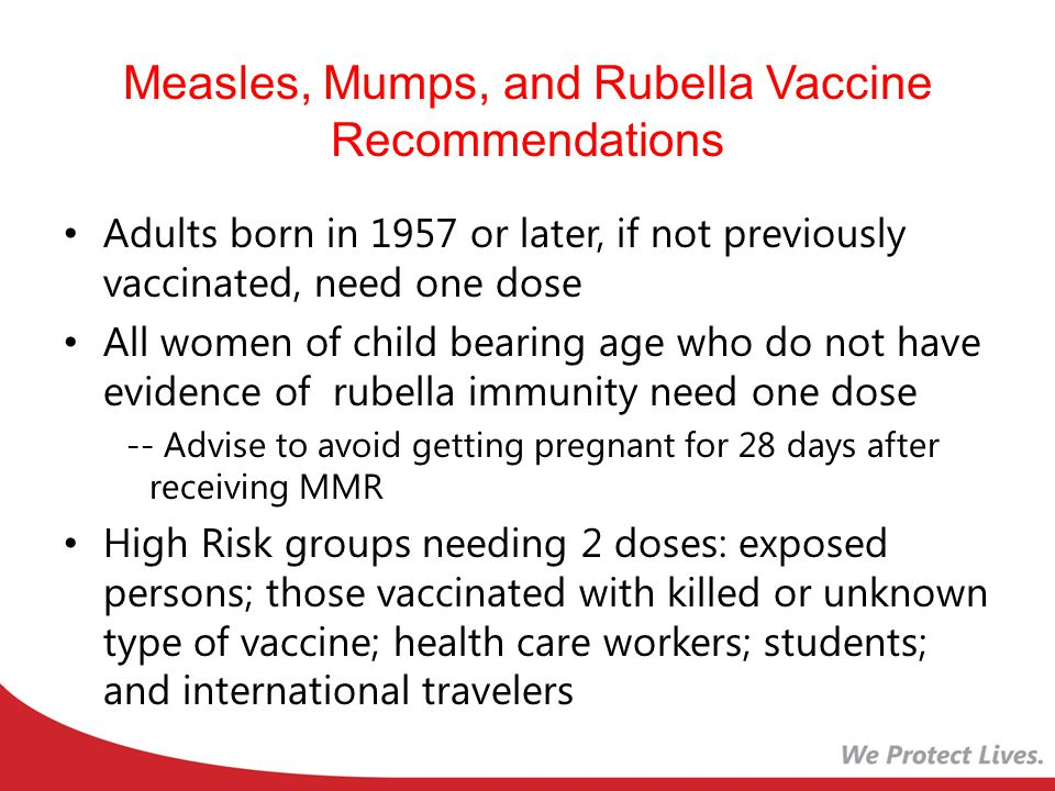Measles, Mumps, and Rubella Vaccine Recommendations