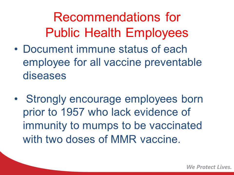 Recommendations for Public Health Employees