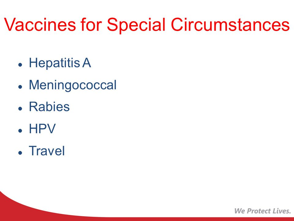 Vaccines for Special Circumstances