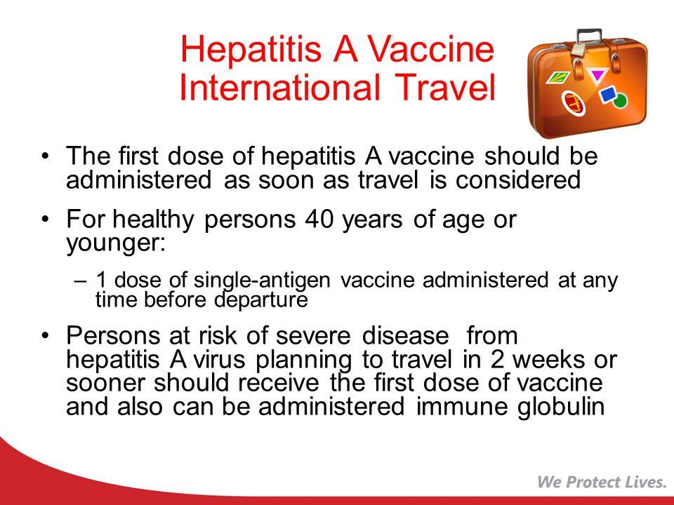 Hepatitis A Vaccine International Travel