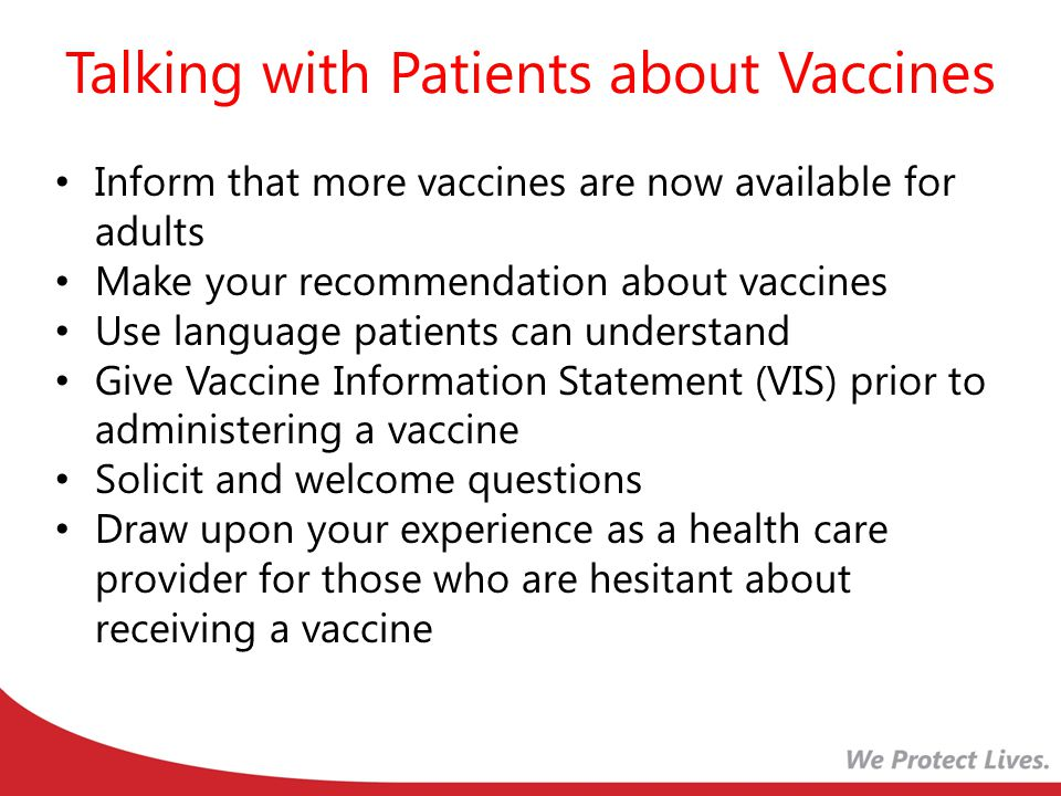 Talking with Patients about Vaccines