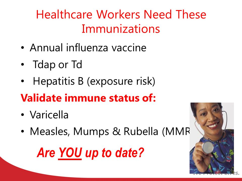 Healthcare Workers Need These Immunizations