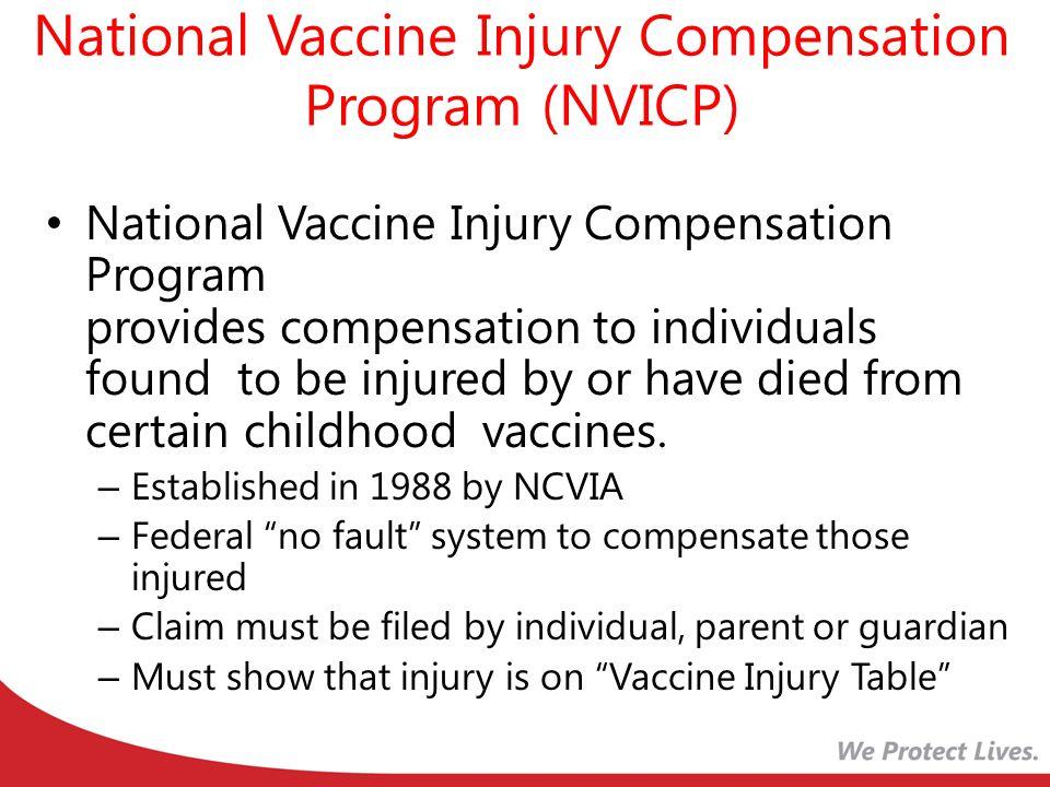 National Vaccine Injury Compensation Program (NVICP)