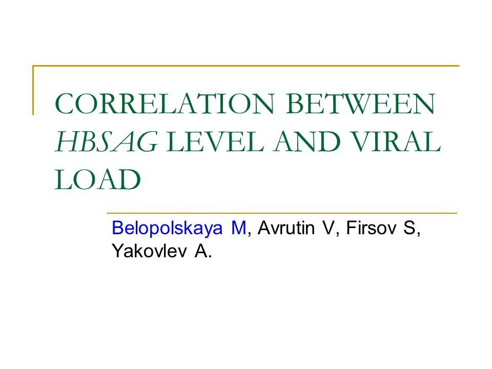 CORRELATION BETWEEN HBSAG LEVEL AND VIRAL LOAD