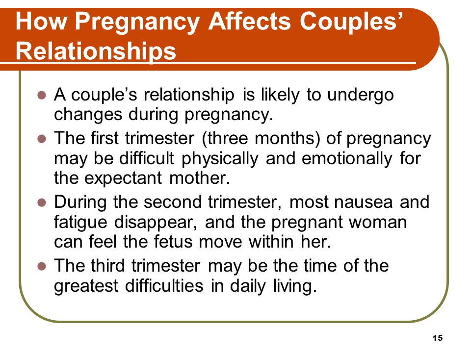 How Pregnancy Affects Couples' Relationships