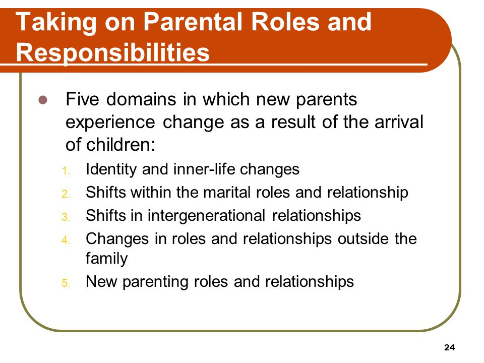 Taking on Parental Roles and Responsibilities