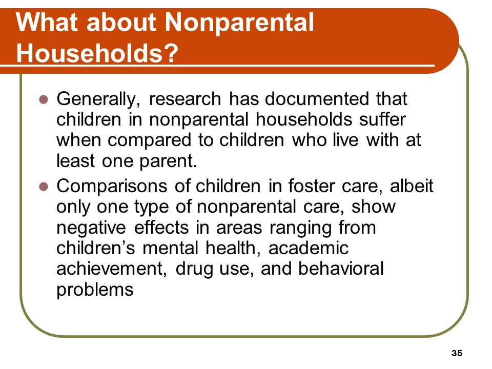 What about Nonparental Households
