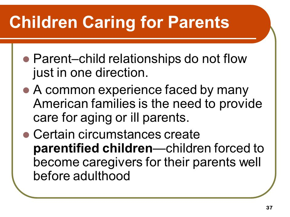 Children Caring for Parents