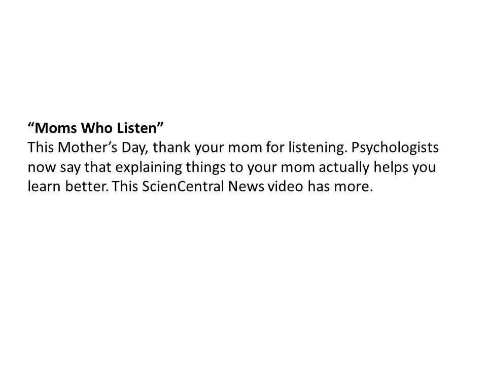 Moms Who Listen