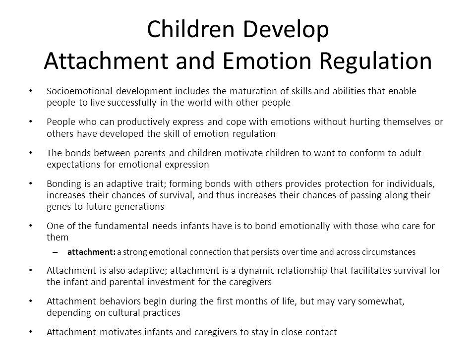 emotion regulation relationship to attachment style Within the attachment relationship, and  attachment theory explained through the lens of secure attachment  facilitates development of emotional regulation .