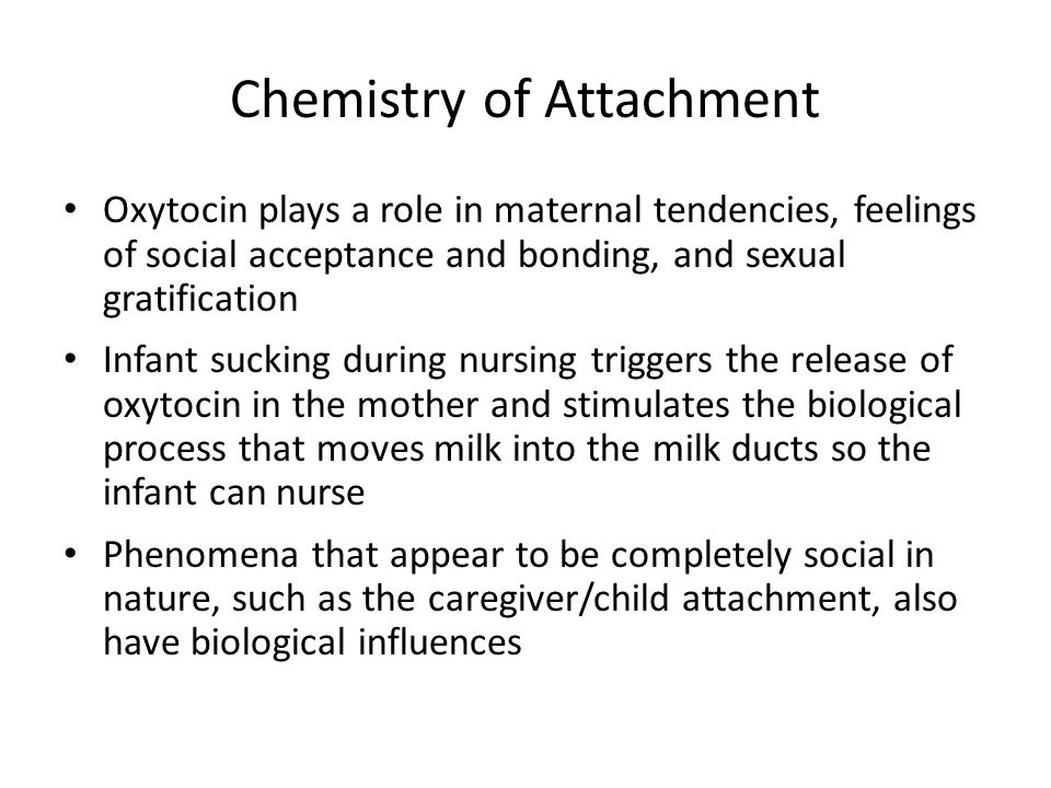 Chemistry of Attachment