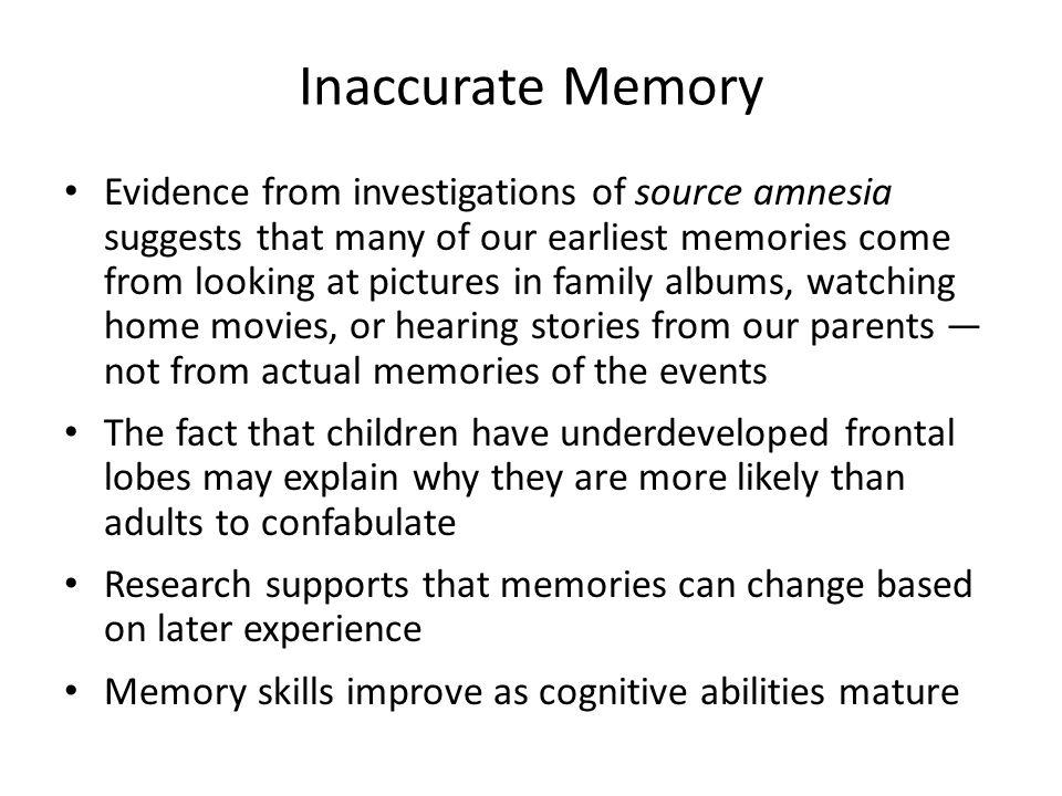 Inaccurate Memory