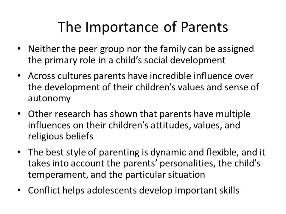 The Importance of Parents