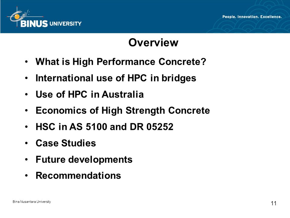 Overview What is High Performance Concrete
