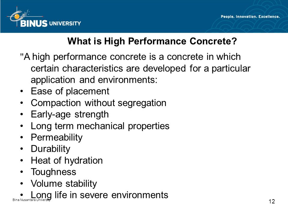 What is High Performance Concrete