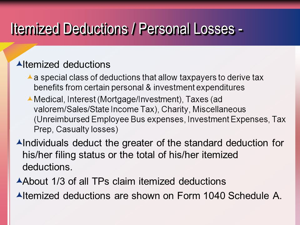 The Individual Tax Model - Ppt Download